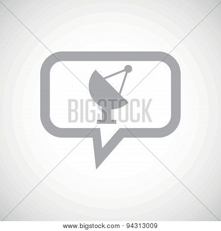 Satellite dish grey message icon