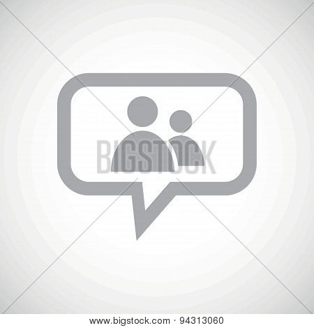 Contacts grey message icon