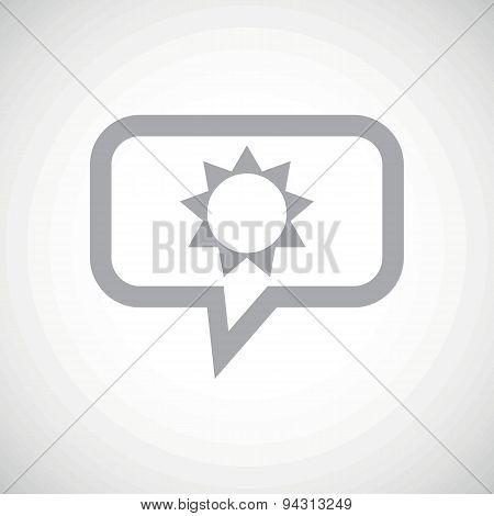 Sun grey message icon
