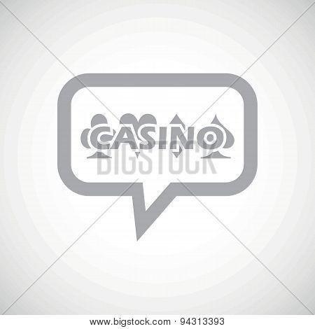 Casino grey message icon