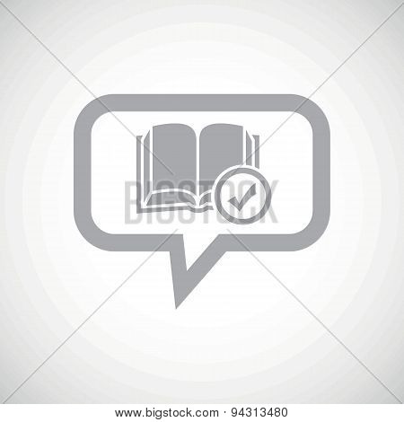 Select book grey message icon