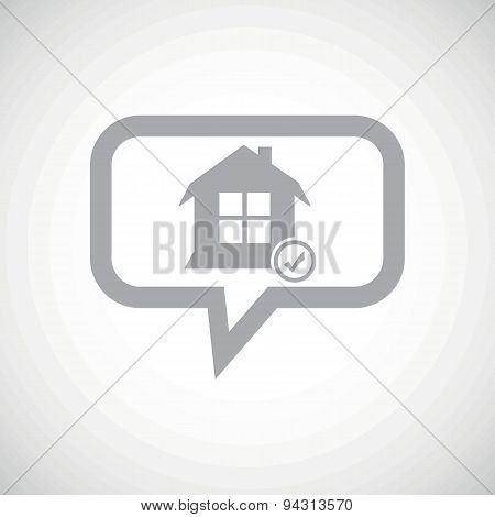 Select house grey message icon