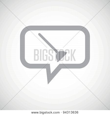 Plunger grey message icon