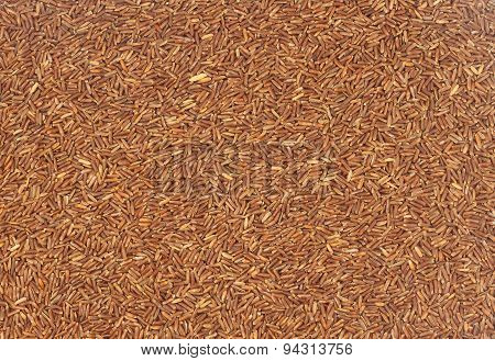 Top View Of Brown Rice