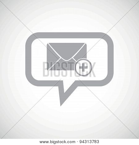 Add letter grey message icon