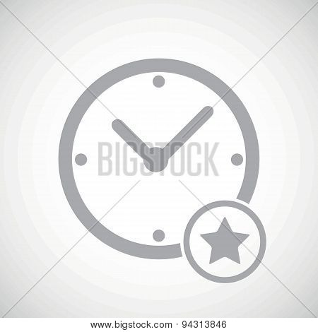 Grey best time icon
