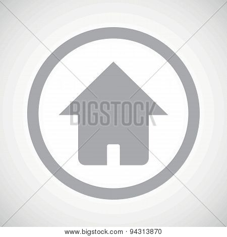Grey home sign icon