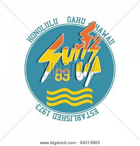 vintage surfs up label