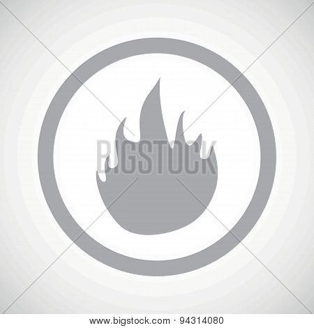 Grey fire sign icon