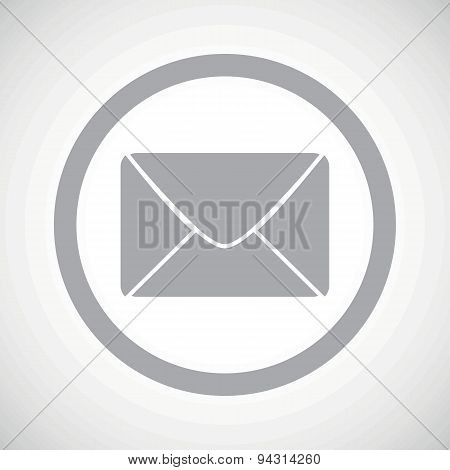 Grey letter sign icon