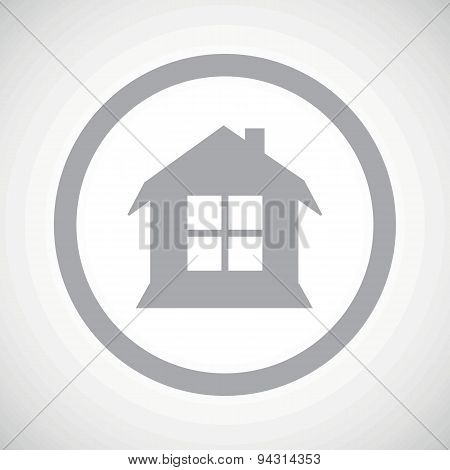 Grey house sign icon