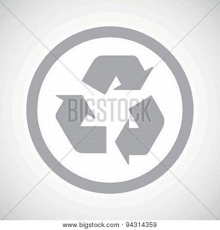Grey recycle sign icon
