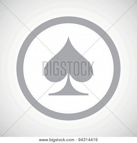 Grey spades sign icon
