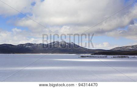 Schuchye Lake in National Park Burabay.