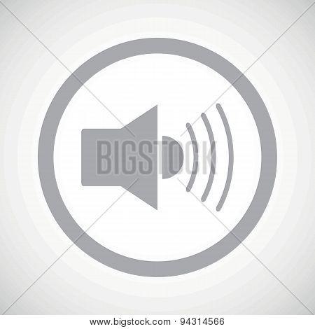 Grey loudspeaker sign icon