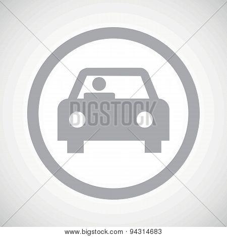 Grey car sign icon