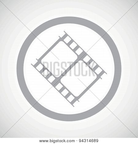Grey movie sign icon