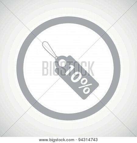 Grey discount sign icon