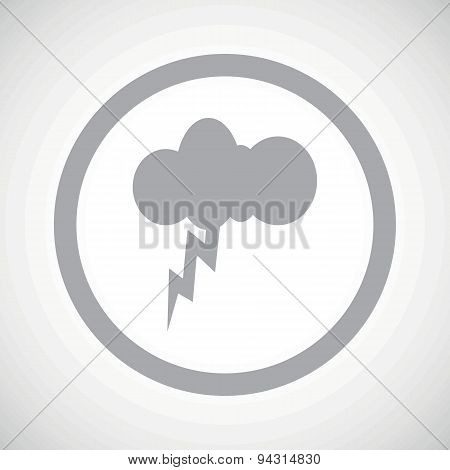 Grey thunderstorm sign icon