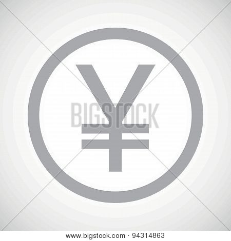 Grey yen sign icon