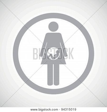 Grey pregnancy sign icon