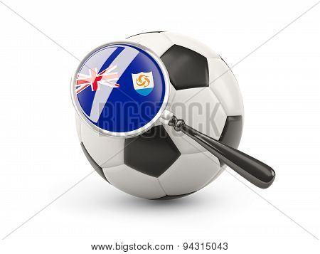 Football With Magnified Flag Of Anguilla