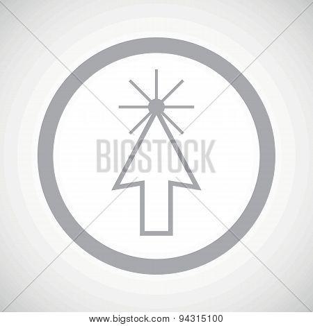 Grey arrow cursor sign icon