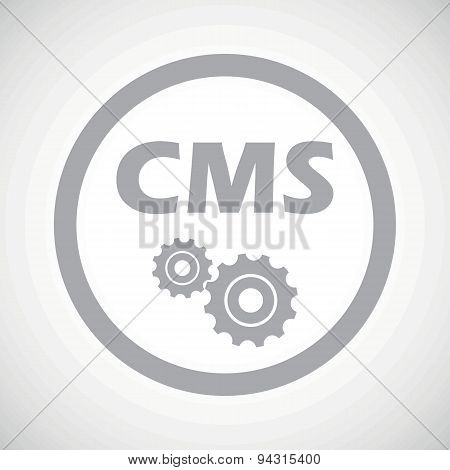 Grey CMS settings sign icon