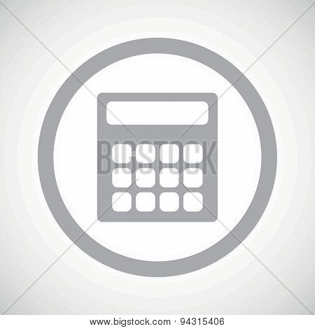 Grey calculator sign icon
