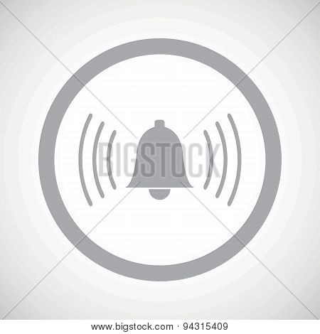Grey alarm sign icon