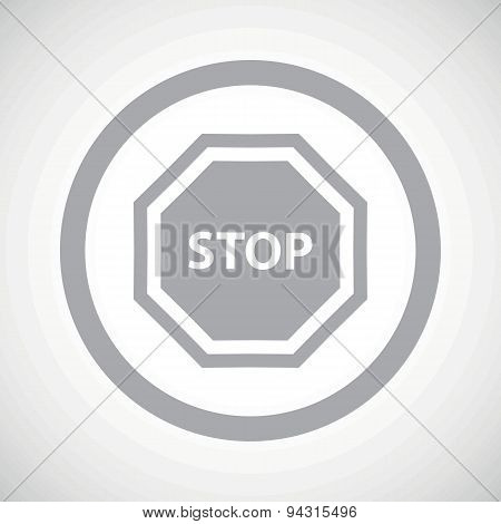 Grey STOP sign icon