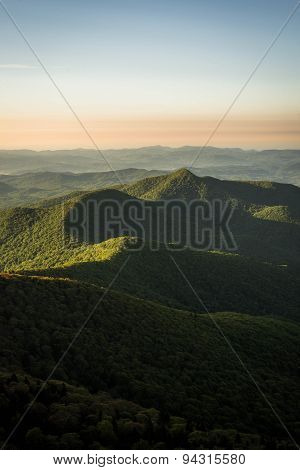 Warm Blue Ridge Mountain Sunrise