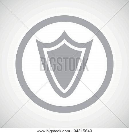 Grey shield sign icon