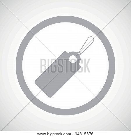 Grey string tag sign icon