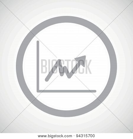 Grey rising graphic sign icon