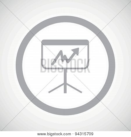 Grey graphic presentation sign icon