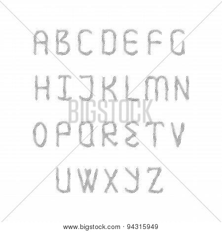 English alphabet set.