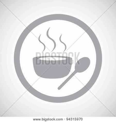 Grey hot soup sign icon