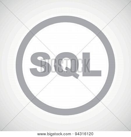 Grey SQL sign icon