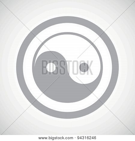 Grey ying yang sign icon