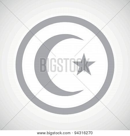 Grey Turkey symbol sign icon