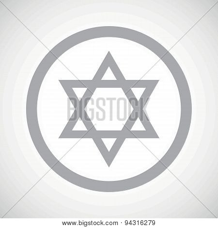 Grey Star of David sign