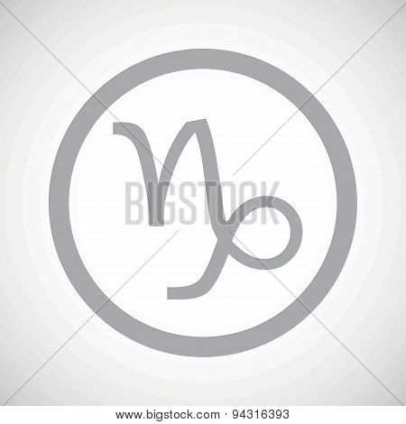 Grey capricorn sign icon