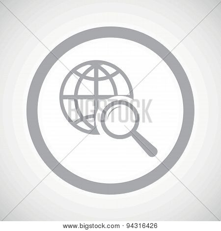 Grey global search sign icon