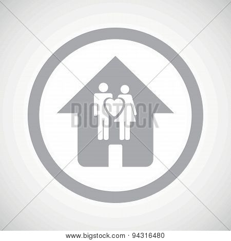 Grey family house sign icon