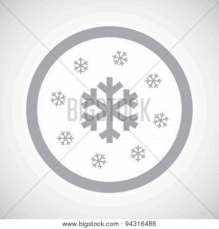 Grey snow sign icon