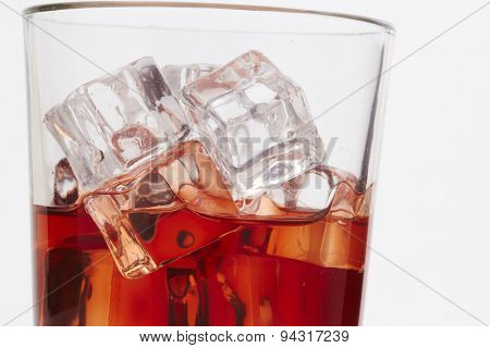 Whiskey with ice cubes