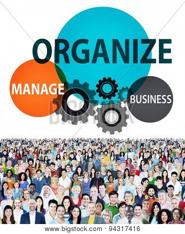 Organize Manage Business Collaboration Community Concept