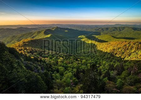 Warm Blue Ridge Mountain Sunrise 3