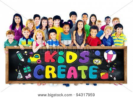 Kids Create Creativity Design Ideas Colorful Concept